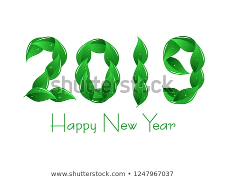 abstract eco based new year text Stock photo © pathakdesigner