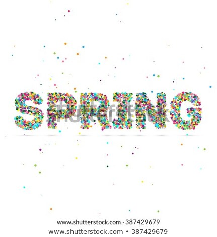 spring word consisting of colored particles stock photo © netkov1