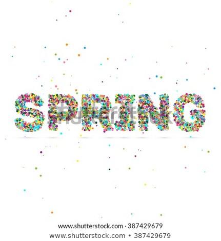 Primavera palavra partículas eps 10 Foto stock © netkov1
