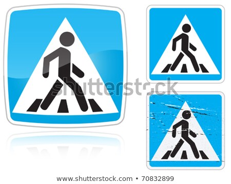 Set of variants a Crosswalk road sign Stock photo © boroda