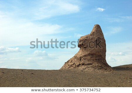 Scenery of an ancient castle like Sphinx Stock photo © bbbar