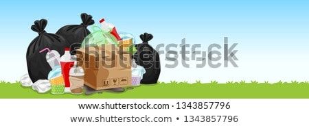 Pile of plastic bags on the floor Stock photo © bluering