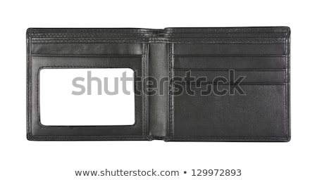 オープン ウォレット ブラウン 革 銀行 ノート ストックフォト © peterguess