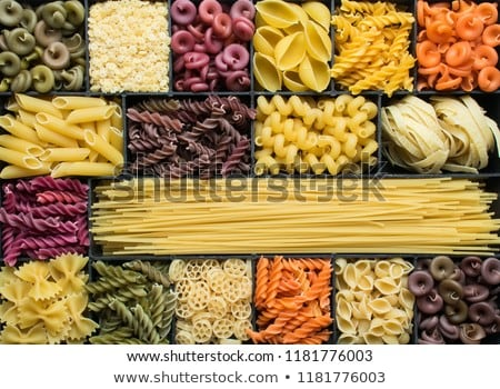 Stock photo: Assortment of colored pasta