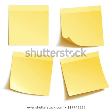 Citromsárga levélpapír fehér iroda papír ír Stock fotó © almir1968