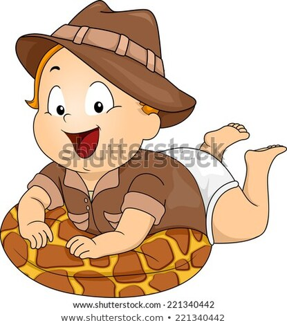 A young boy in a safari outfit Stock photo © bluering
