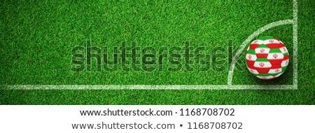 futball · futball · labda · Irán · zászló · 3D - stock fotó © wavebreak_media