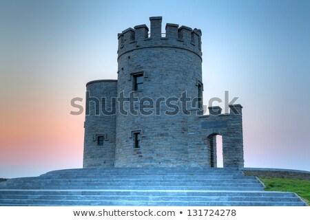 Cena castelo torres penhasco ilustração edifício Foto stock © colematt