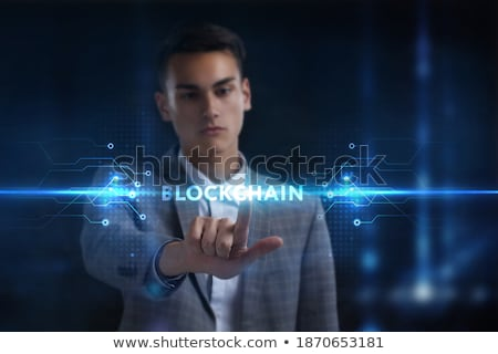 小さな · ビジネスマン · データ · マイニング · 男 · 世界 - ストックフォト © elnur