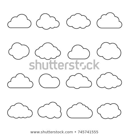 información · símbolo · nube · forma · cielo · azul - foto stock © make