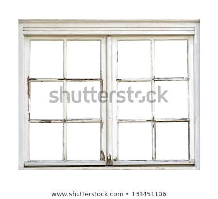 Old wooden window painted in white Stock photo © colematt