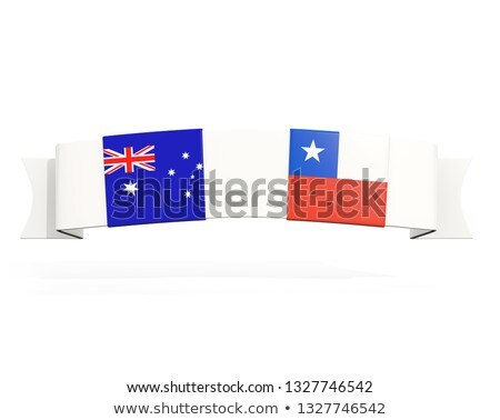 Banner with two square flags of Australia and chile Stock photo © MikhailMishchenko