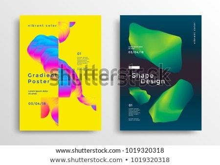 modern set of vibrant poster design background Stock photo © SArts