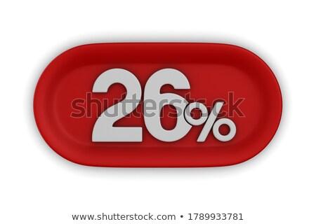Vinte seis por cento branco isolado ilustração 3d Foto stock © ISerg