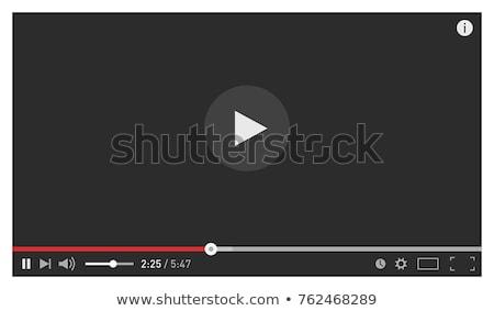 Video multimedia speler sjabloon ontwerp Stockfoto © SArts