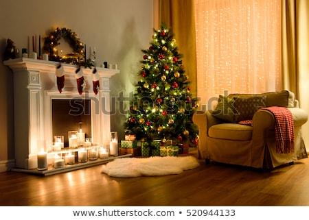 Cozy apartment decorated for Christmas Stock photo © vkstudio