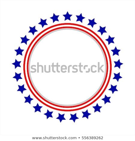 кадр американский флаг стилизованный США патриотический Знак Сток-фото © kyryloff