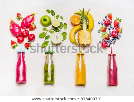 Selection of superfoods on white wooden background.  Stock photo © Illia
