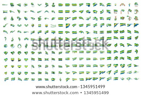 very big collection of vector flags of the Gabon Stock photo © butenkow