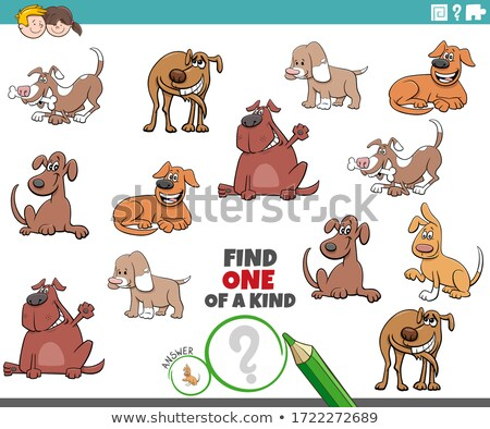one of a kind game for kids with dogs and puppies Stock photo © izakowski