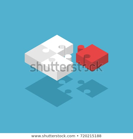 Four white jigsaw puzzle 3D Stock photo © djmilic