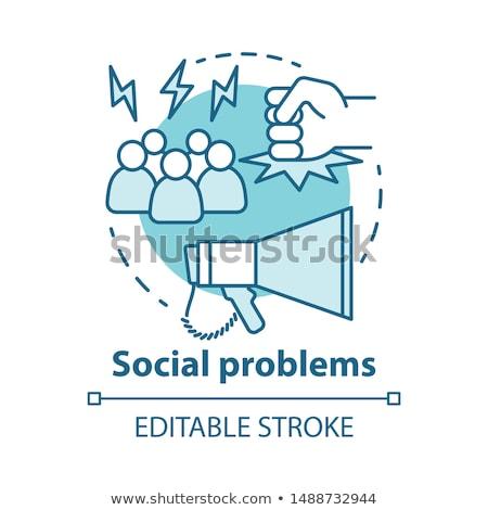 社会 紛争 抽象的な 関係 インタラクション 電源 ストックフォト © RAStudio