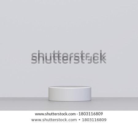 Podyum duvar en az sahne 3d illustration uzay Stok fotoğraf © montego