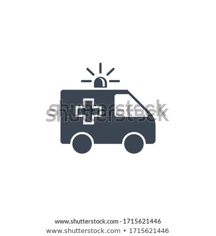 Ambulance auto vector icon geïsoleerd zwarte Stockfoto © smoki