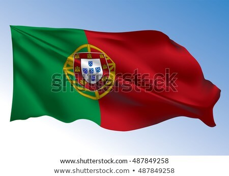 Portuguese Flag flying in the wind Stock photo © jeayesy