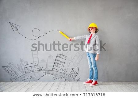 Children pretending to be builders Stock photo © photography33