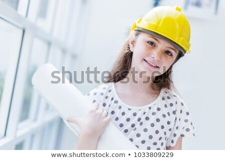 Small girl pretending to be construction worker Stock photo © photography33