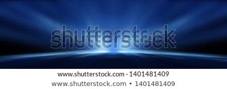 magia · azul · efeito · pessoas - foto stock © davidarts