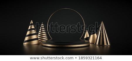 golden Happy New Year on a pedestal Stock photo © marinini