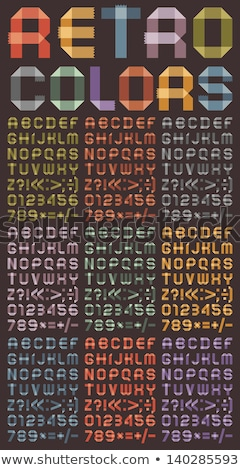 Font from colored scotch tape - Arabic numerals stock photo © Ecelop