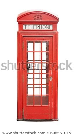 Telefon doboz ódivatú fekete fém kommunikáció Stock fotó © chrisbradshaw