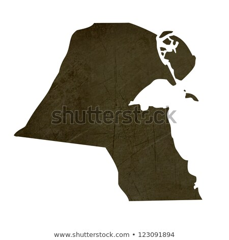 暗い 地図 クウェート 孤立した 白 ストックフォト © speedfighter
