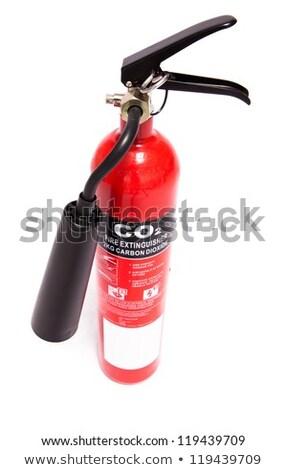 Büyük kırmızı karbon yangın söndürücü Stok fotoğraf © wavebreak_media