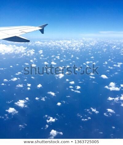 Wolken vliegtuig natuur licht technologie venster Stockfoto © rufous