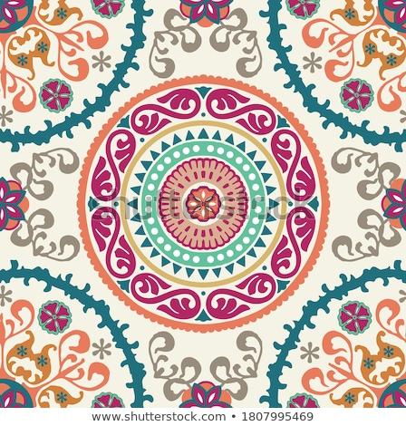 Arabisch tegel stijl muur blad Stockfoto © fxegs