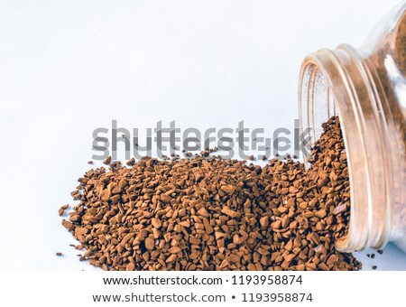 Granulated soluble dry coffee macro Stock photo © vavlt
