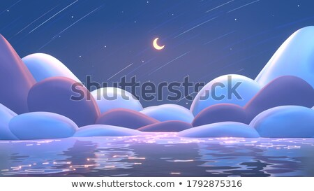Ocean horizon - 3D render Stock photo © Elenarts