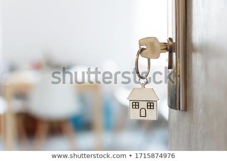 Klucze apartamentu Fotografia biały tle kluczowych Zdjęcia stock © Marfot