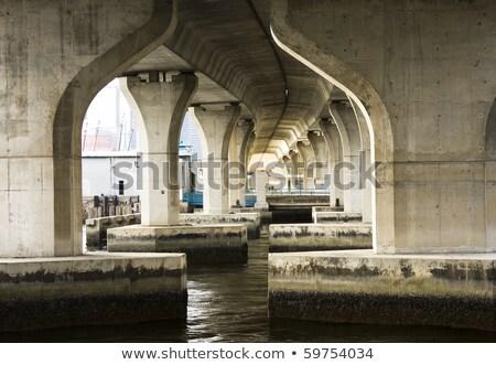 высокий воды моста дерево реке Сток-фото © Kayco