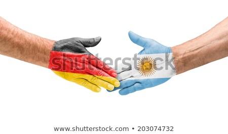 Stretta di mano Germania Argentina mano riunione sport Foto d'archivio © Zerbor