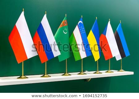 Rusia Turkmenistán miniatura banderas aislado blanco Foto stock © tashatuvango