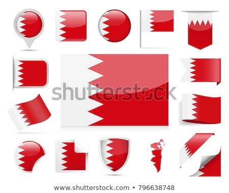 Kare ikon bayrak Bahreyn Metal çerçeve Stok fotoğraf © MikhailMishchenko