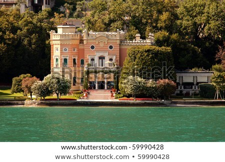 Expensive villa on Lake Garda  Stock photo © master1305