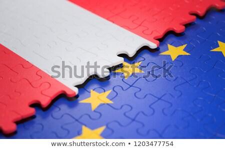 Europeo Unión Austria banderas rompecabezas vector Foto stock © Istanbul2009
