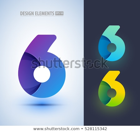 6 Number Vector Green Web Icon Stock photo © rizwanali3d