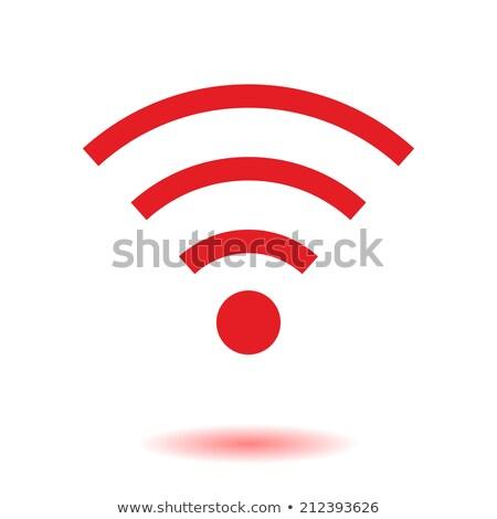 Wifi rot Vektor Symbol Design digitalen Stock foto © rizwanali3d